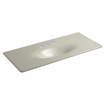 Iron Impressions 50 Single Bathroom Vanity Top Top Finish: Sandbar, Faucet Hole Type: Widespread
