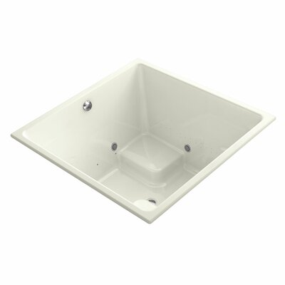 Underscore Bubblemassage Cube 48 x 48 Whirpool Bathtub Finish: Biscuit
