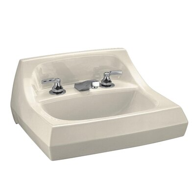 Kingston Ceramic 22 Wall Mount Bathroom Sink with Overflow Sink Finish: Almond