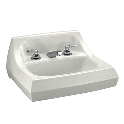 Kingston Ceramic 22 Wall Mount Bathroom Sink with Overflow Sink Finish: White