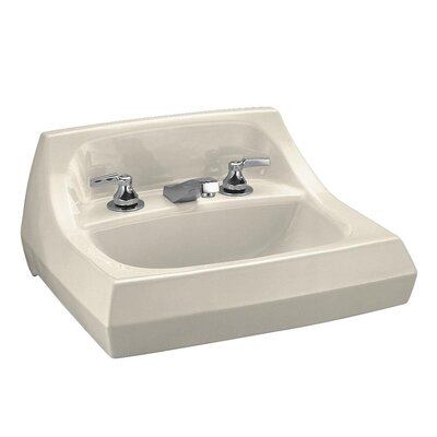 Kingston 21 Wall Mount Bathroom Sink Sink Finish: Almond