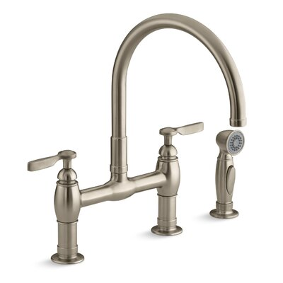 Parq Pull Down Touch Bridge Faucet with Side Spray Finish: Vibrant Stainless