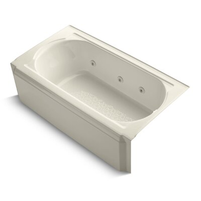 Memoirs Alcove 60 x 34 Whirpool Bathtub Finish: Almond