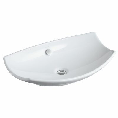 Leaf Specialty Vessel Bathroom Sink Finish: White