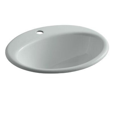 Farmington Self Rimming Bathroom Sink Finish: Ice Grey