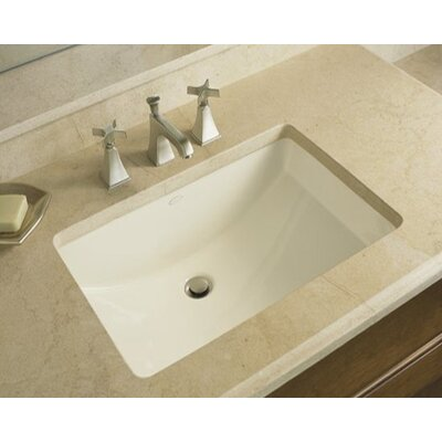 Ladena Ceramic Rectangular Undermount Bathroom Sink with Overflow Sink Finish: Mexican Sand