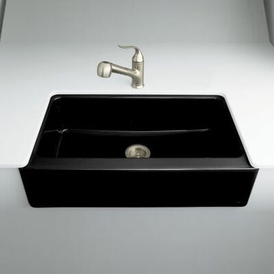 Stainless Steel Apron Front Kitchen Sinks on Dickinson Apron Front Kitchen Sink With Four Hole Oversized Faucet