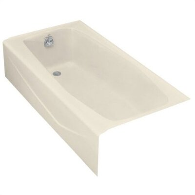 Villager Bath Tub in Almond with Left-Hand Drain