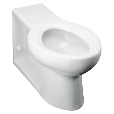 Anglesey Floor-Mounted Wall-Outlet 1.6 GPF Flushometer Valve Elongated Bowl with Integral Seat and Rear Inlet