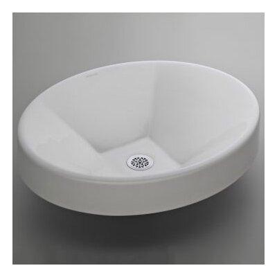 Inscribe Metal Circular Drop-In Bathroom Sink with Overflow Sink Finish: Biscuit