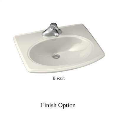Pinoir Self Rimming Bathroom Sink 8 Finish: Biscuit, Centers: 8 Centers