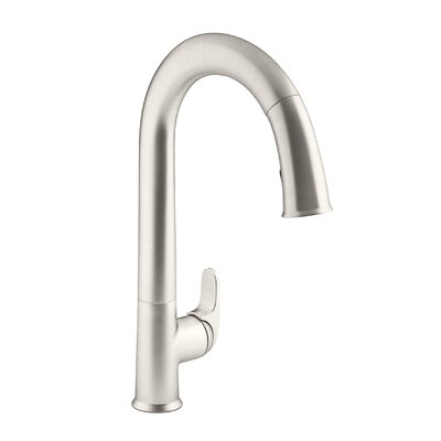 Sensate Touchless Kitchen Faucet with 15-1/2 Pull-Down Spout, Docknetik Magnetic Docking System and A 2-Function Sprayhead Featuring The New Sweep Spray Finish: Vibrant Stainless