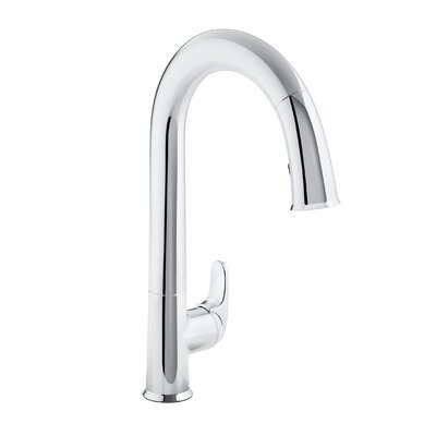 Sensate Touchless Kitchen Faucet with 15-1/2 Pull-Down Spout, Docknetik Magnetic Docking System and A 2-Function Sprayhead Featuring The New Sweep Spray Finish: Polished Chrome