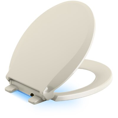 Cachet Quiet Close with Grip-Tight Round Front Toilet Seat Finish: Almond