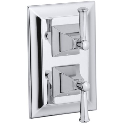 Memoirs Stately Valve Trim with Lever Handles for Stacked Valve, Requires Valve Finish: Polished Chrome