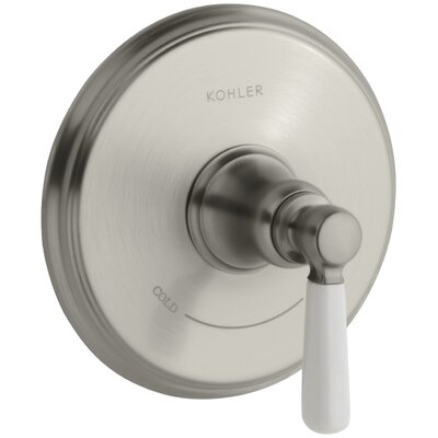 Bancroft Valve Trim with Ceramic Lever Handle for Thermostatic Valve, Requires Valve Finish: Vibrant Brushed Nickel
