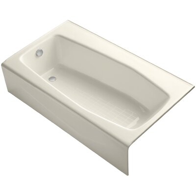Villager Alcove 60 x 34 Soaking Bathtub Finish: Almond