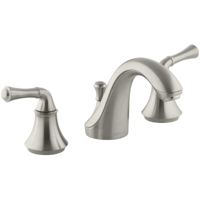 Fort� Widespread Bathroom Sink Faucet with Traditional Lever Handles Finish: Vibrant Brushed Nickel