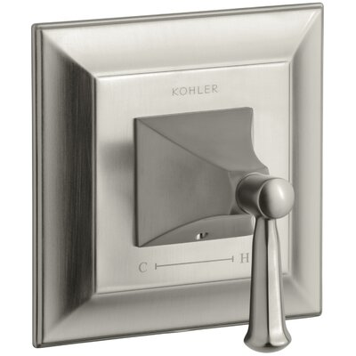 Memoirs Stately Valve Trim with Lever Handle for Thermostatic Valve Finish: Vibrant Brushed Nickel K-T10421-4S-BN
