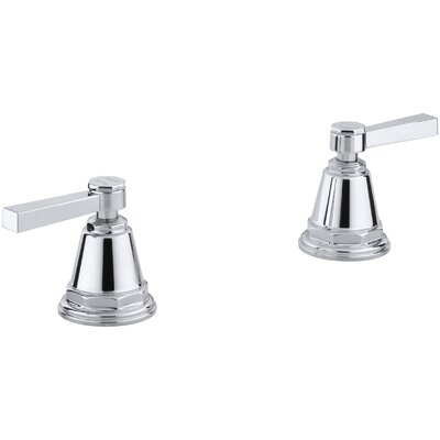 Pinstripe Pure Deck-Mount High-Flow Bath Valve Trim with Lever Handles, Handles Only, Valve Not Included Finish: Polished Chrome
