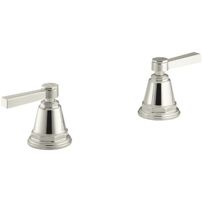 Pinstripe Deck-Mount High-Flow Bath Valve Trim with Lever Handles, Handles Only, Valve Not Included Finish: Vibrant Polished Nickel
