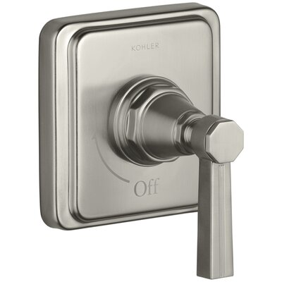 Pinstripe Valve Trim with Lever Handle for Volume Control Valve, Requires Valve Finish: Vibrant Brushed Nickel