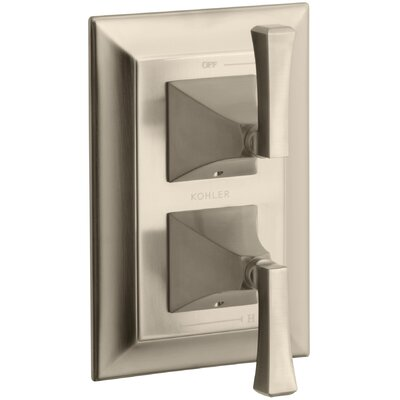 Memoirs Stately Valve Trim with Deco Lever Handles for Stacked Valve Finish: Vibrant Brushed Bronze