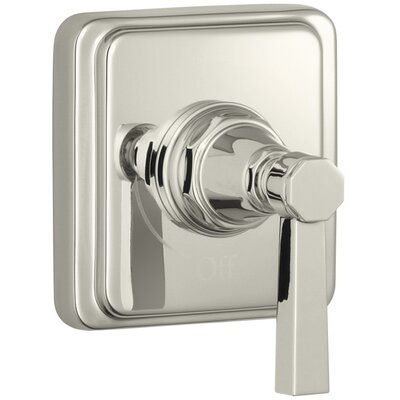 Pinstripe Valve Trim with Pure Design Lever Handle for Volume Control Valve, Requires Valve Finish: Vibrant Polished Nickel