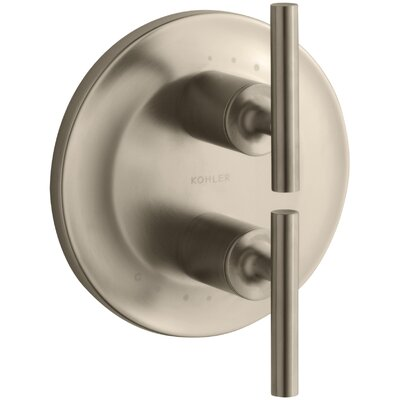 Purist Valve Trim with Lever Handles for Stacked Valve Finish: Vibrant Brushed Bronze