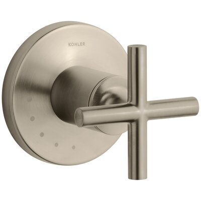 Purist Valve Trim with Cross Handle for Volume Control Valve Finish: Vibrant Brushed Bronze
