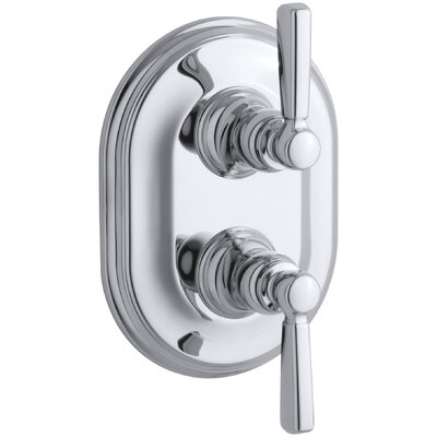 Bancroft Stacked Valve Trim with White Ceramic Lever Handles, Requires Valve Finish: Polished Chrome, Handle Material: Metal