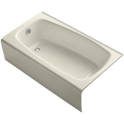 Seaforth Alcove 54 x 31 Soaking Bathtub Finish: Almond