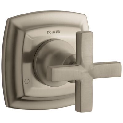 Margaux Valve Trim with Cross Handle for Transfer Valve, Requires Valve Finish: Vibrant Brushed Bronze