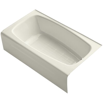 Seaforth Alcove 54 x 31 Soaking Bathtub Finish: Biscuit