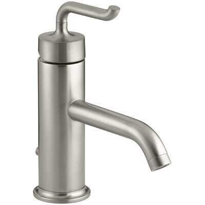 Purist Single-Hole Bathroom Sink Faucet with Smile Design Handle Finish: Vibrant Brushed Nickel K-14402-4-BN