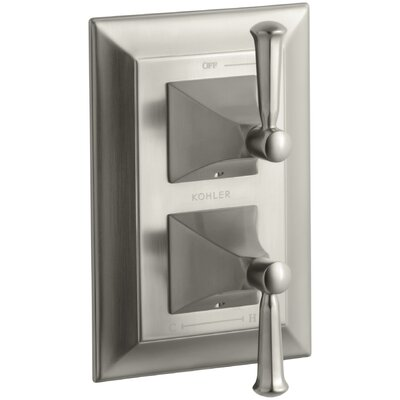 Memoirs Stately Valve Trim with Lever Handles for Stacked Valve, Requires Valve Finish: Vibrant Brushed Nickel