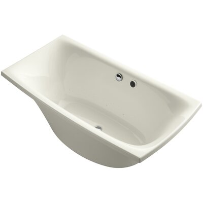 Escale Freestanding Bubblemassage 72 x 36 Soaking Bathtub Finish: Biscuit
