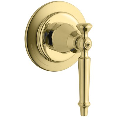 Antique Volume Control Valve Trim with Lever Handle, Valve Not Included Finish: Vibrant Polished Brass
