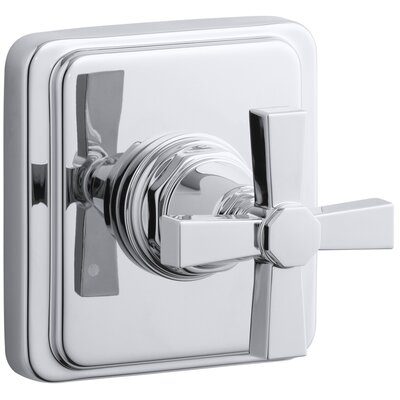Pinstripe Valve Trim with Pure Design Cross Handle for Transfer Valve, Requires Valve Finish: Polished Chrome