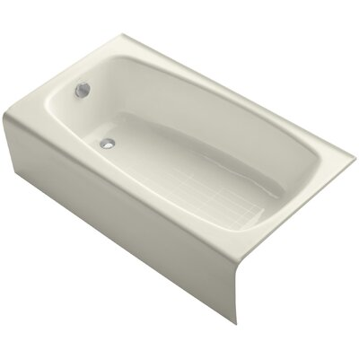 Seaforth Alcove 54 x 31 Soaking Bathtub Finish: Biscuit