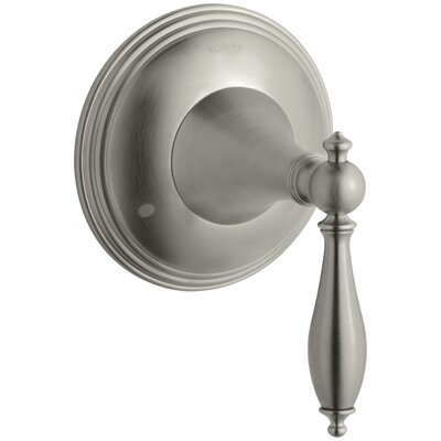 Finial Traditional Valve Trim with Lever Handle for Transfer Valve, Requires Valve Finish: Vibrant Brushed Nickel