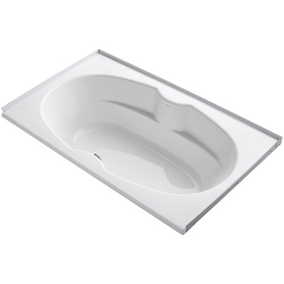 Alcove 72 x 42 Soaking Bathtub Sink Finish: White