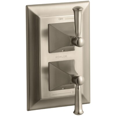 Memoirs Stately Valve Trim with Lever Handles for Stacked Valve, Requires Valve Finish: Vibrant Brushed Bronze