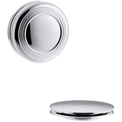 PureFlo Traditional Push Button Bath Drain Trim Finish: Polished Chrome