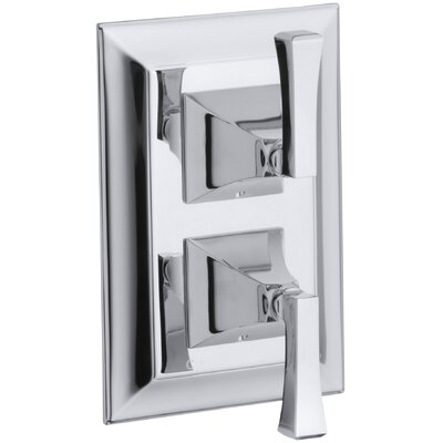 Memoirs Stately Valve Trim with Deco Lever Handles for Stacked Valve Finish: Oil-Rubbed Bronze