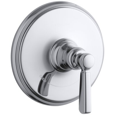 Bancroft Valve Trim with Metal Lever Handle for Thermostatic Valve, Requires Valve Finish: Polished Chrome