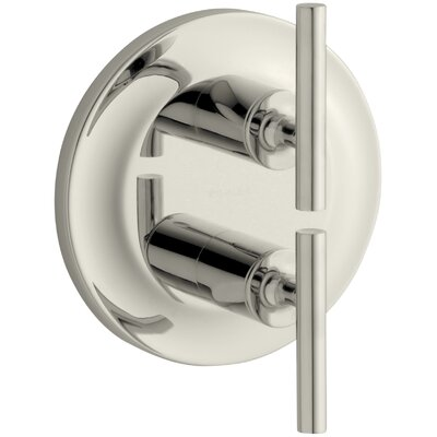 Purist Valve Trim with Lever Handles for Stacked Valve Finish: Vibrant Polished Nickel