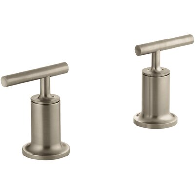 Purist Deck- or Wall-Mount High-Flow Bath Trim with Lever Handles Finish: Vibrant Brushed Bronze