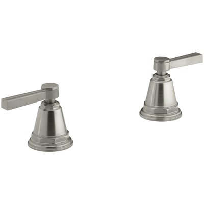 Pinstripe Deck-Mount High-Flow Bath Valve Trim with Lever Handles, Handles Only, Valve Not Included Finish: Vibrant Brushed Nickel