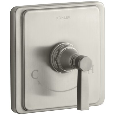 Pinstripe Valve Trim with Pure Design Lever Handle for Thermostatic Valve, Requires Valve Finish: Vibrant Brushed Nickel
